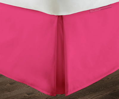 600 TC Hot Pink pleated bed skirt