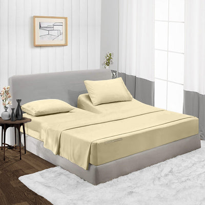 600TC Egyptian Cotton Ivory Split Head Sheet Set