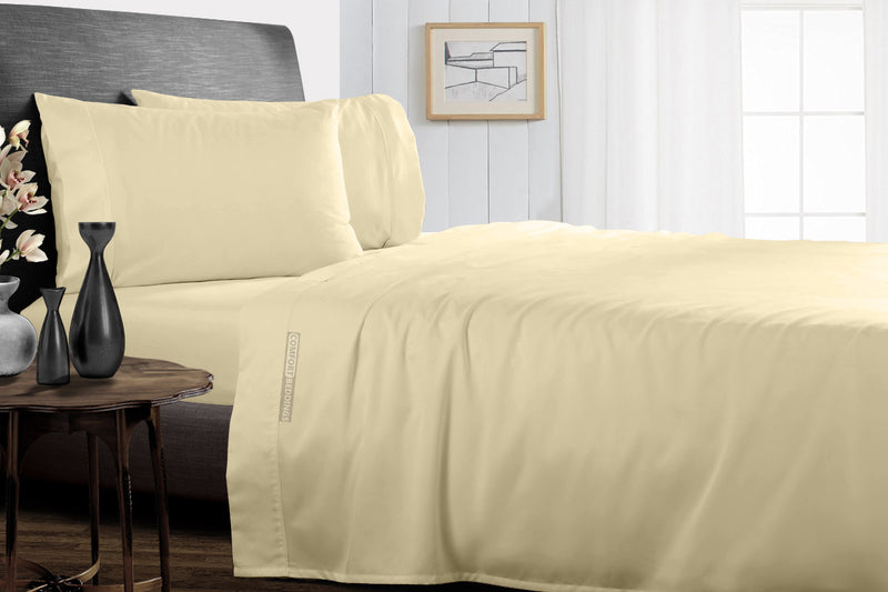 Easy Adjustable Ivory Split Bed Sheets