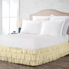 600TC Ivory Multi Ruffled Bed Skirt