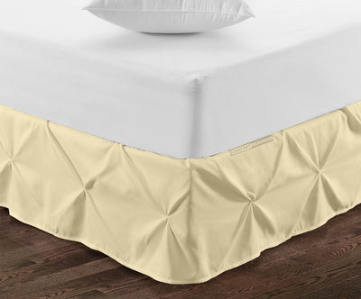 Essential Ivory pinch pleated bed skirt