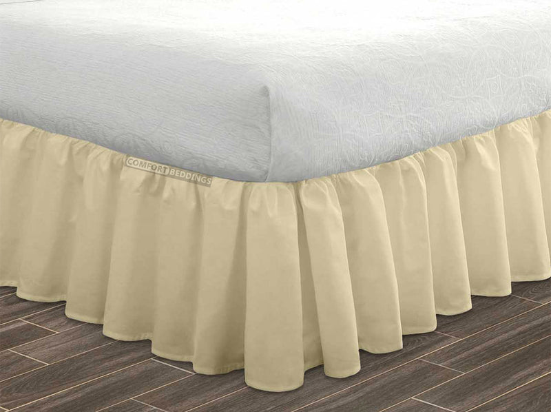 Top Quality Ivory ruffled bed skirt 1000 Thread Count