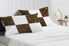 Luxury leopard print with white chex pillowcases