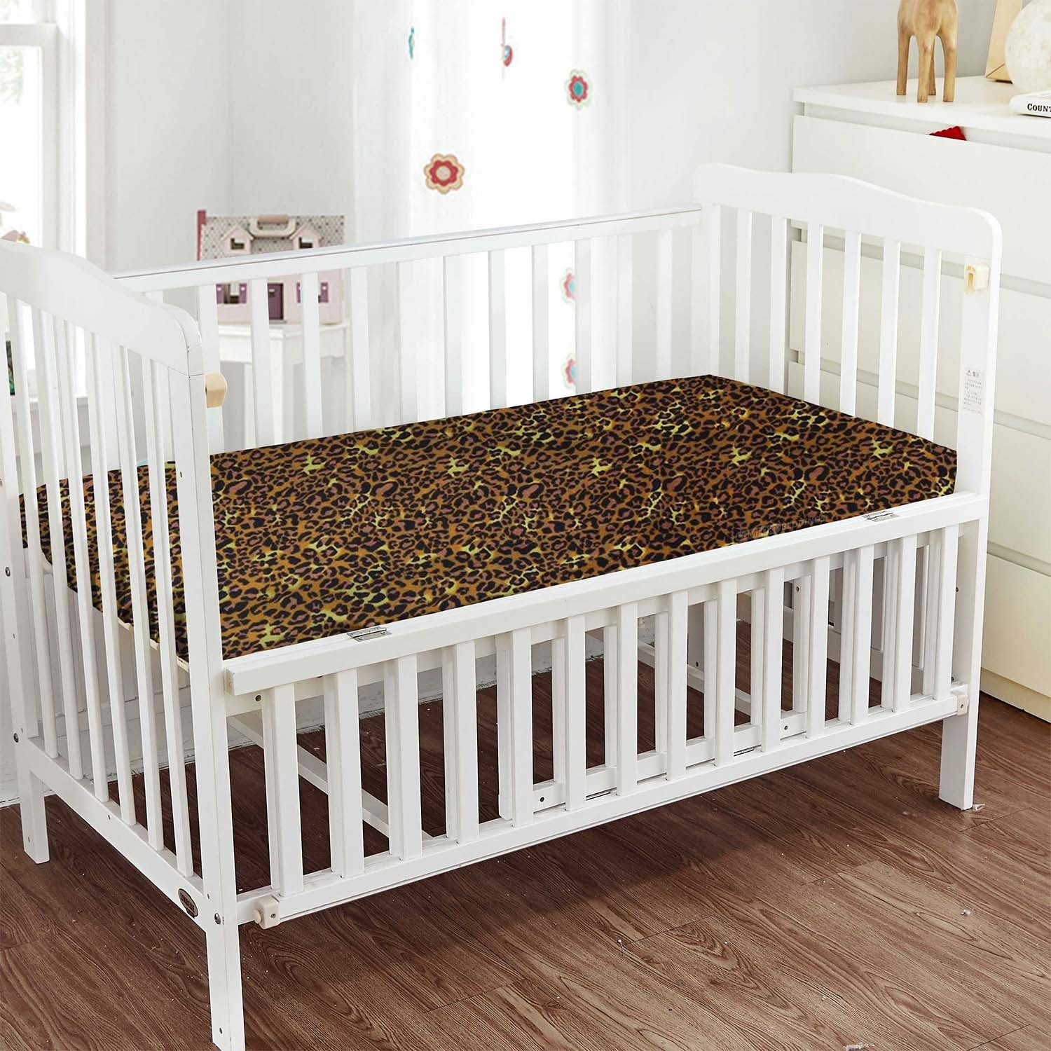 Luxurious Leopard Print Fitted Crib Sheets - 800TC