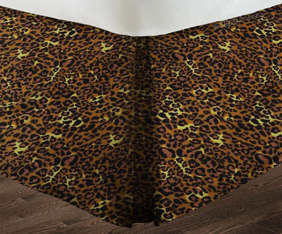 Luxurious Leopard pleated bed skirt