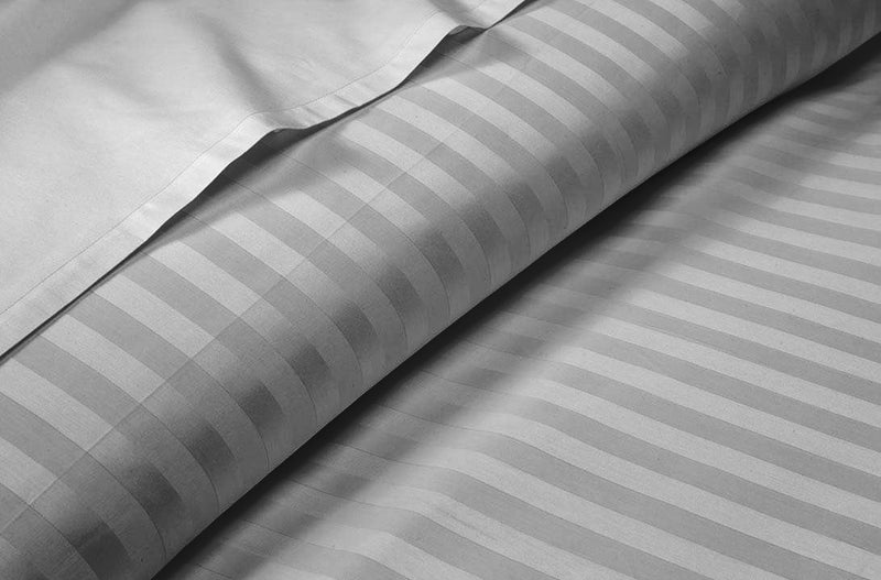 Luxury Light Grey Striped Split Sheet Set