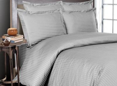 Top Quality Light grey Striped Bedding In a Bag