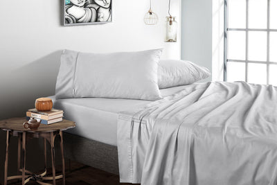 1000 Thread Count Light Grey Flat Sheet
