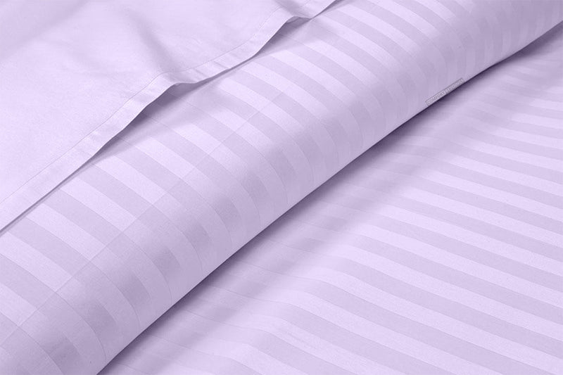 100% Egyptian Cotton Lilac Stripe Split Sheet Set