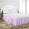 Elegant Lilac Wrap Around Bed Skirt