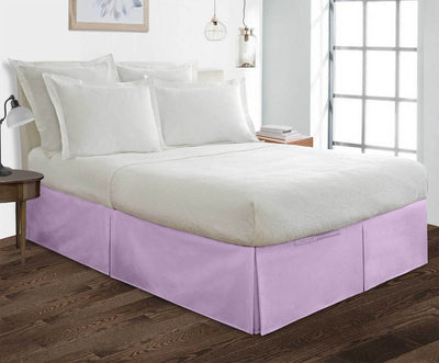 Classy Lilac pleated bed skirt