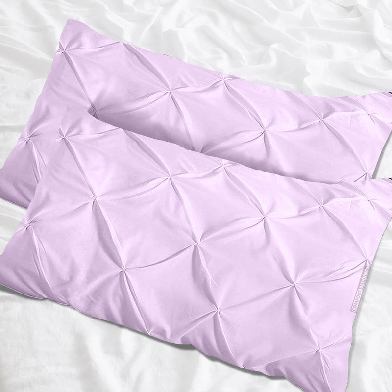 Elegant lilac pinch pillow cases