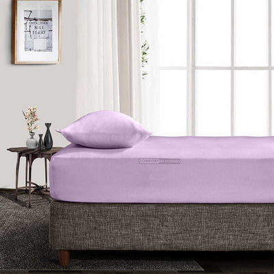 Top Quality 1000TC Lilac Fitted Sheet