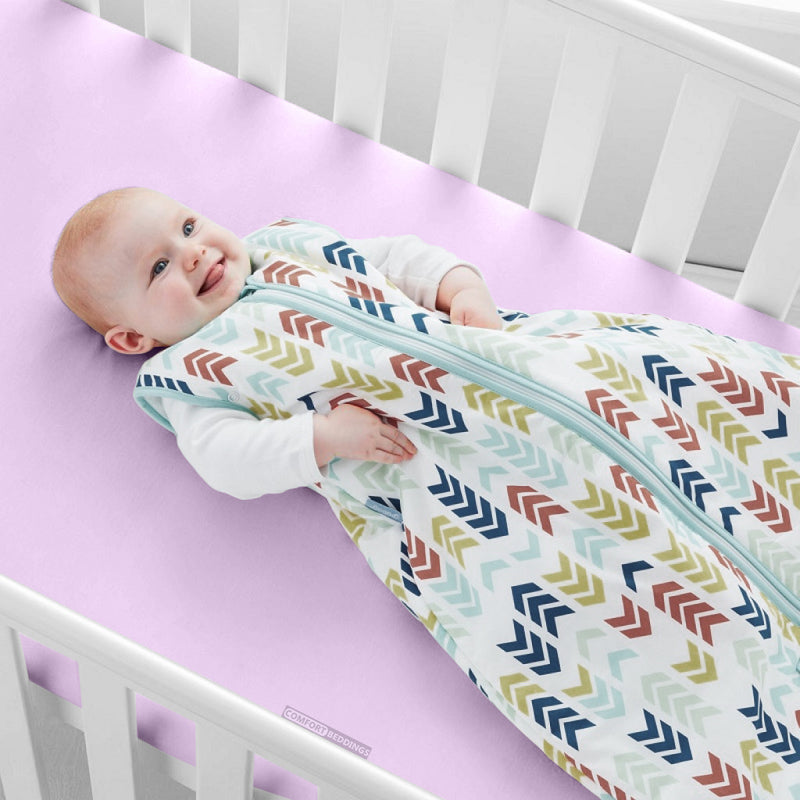 Top Selling Lilac Fitted Crib Sheets - 1000 and 600TC