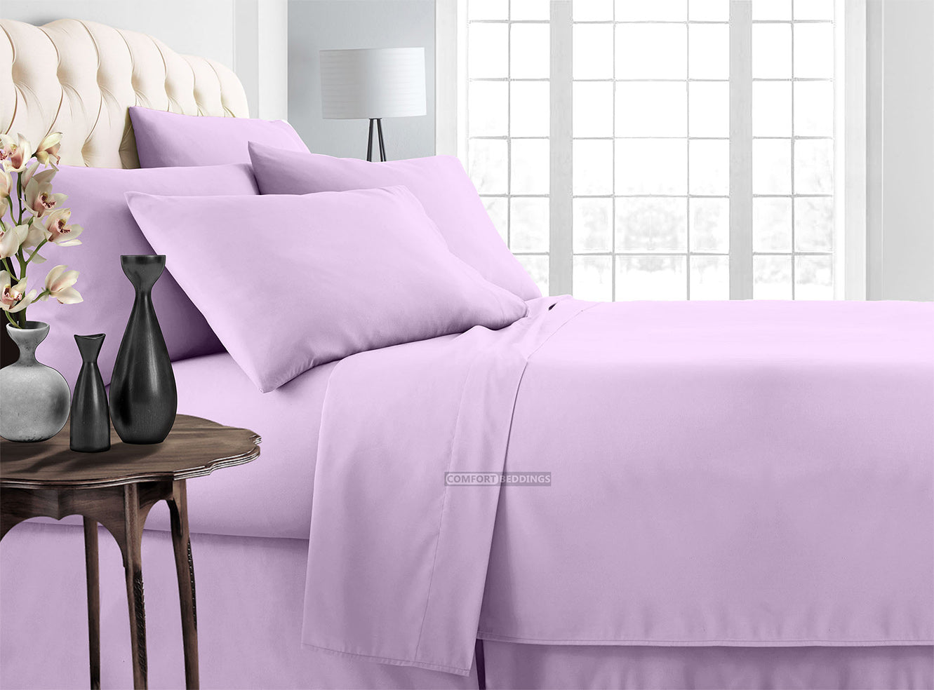 Purple Solid Sheet Set RV Camper /& BUNK Bed All Sizes 1000 TC Egyptian Cotton