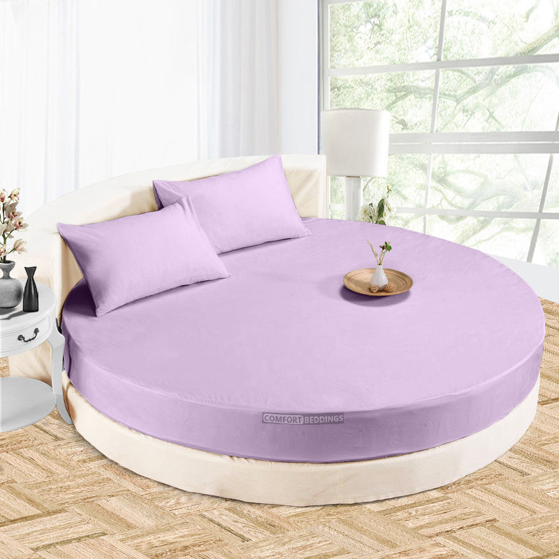Luxury lilac round Sheet Set