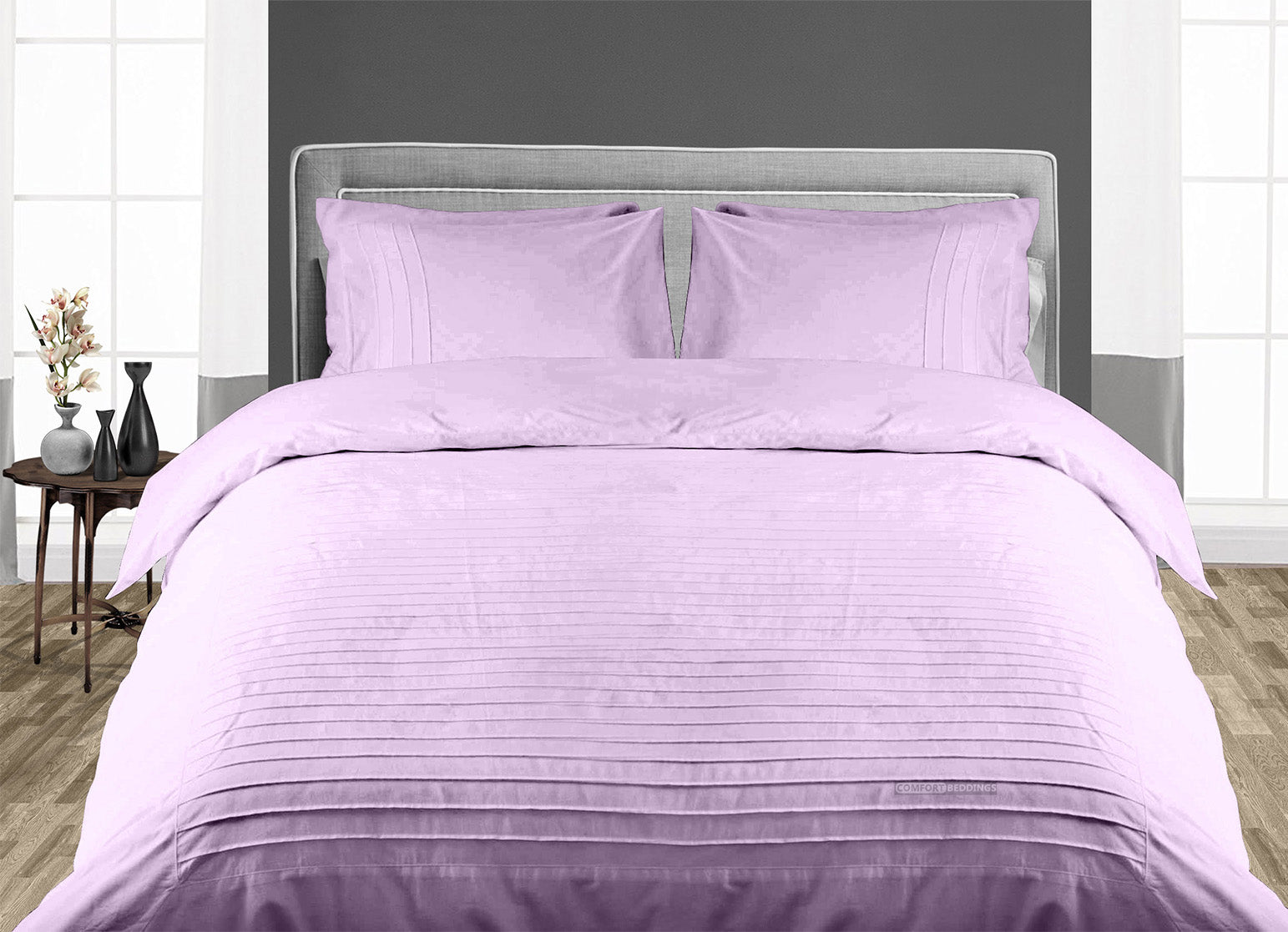 Luxury Lilac Moroccan Streak Duvet Cover And Pillowcases