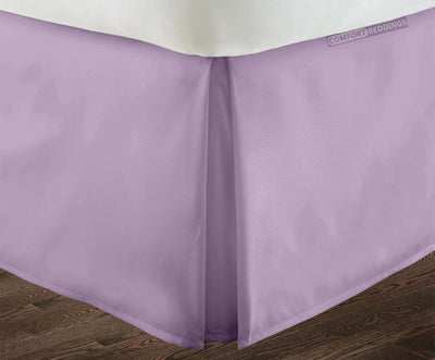 1000 TC lilac pleated bed skirt