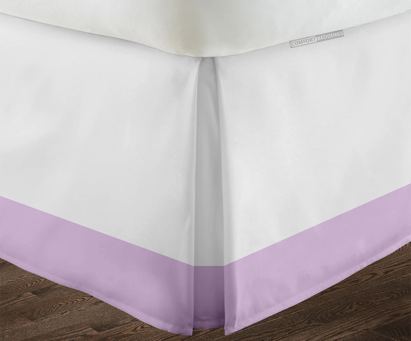 Luxurious lilac two tone bed skirt