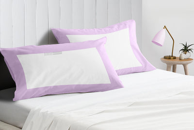 Soft Luxurious lilac - white two tone pillow cases