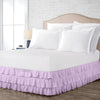 Luxury Lilac Multi Ruffled Bed Skirt
