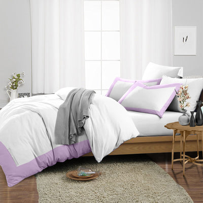 Elegant Lilac Two Tone Duvet Cover