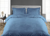 Luxurious Mediterranean Blue Moroccan Streak Duvet Cover And Pillowcases