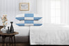 Luxury Mediterranean blue - white chex pillowcases