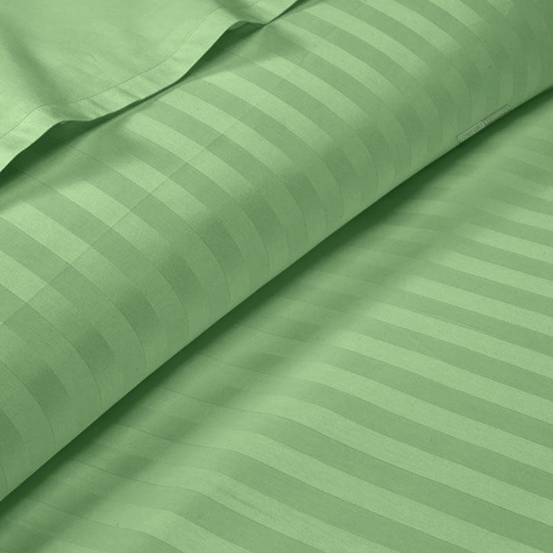 Luxury Moss Stripe Duvet Cover - 600TC