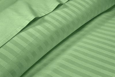 Soft 600 TC Moss Stripe Flat Sheet