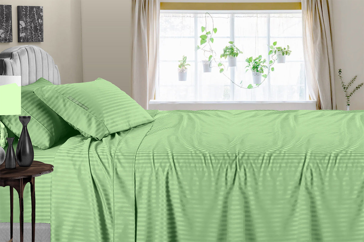 Soft 600 TC Moss Stripe Sheet Set