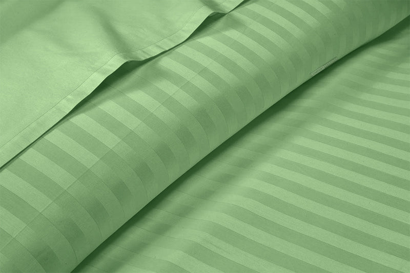 Adjustable Moss Stripe Split Bed Sheets