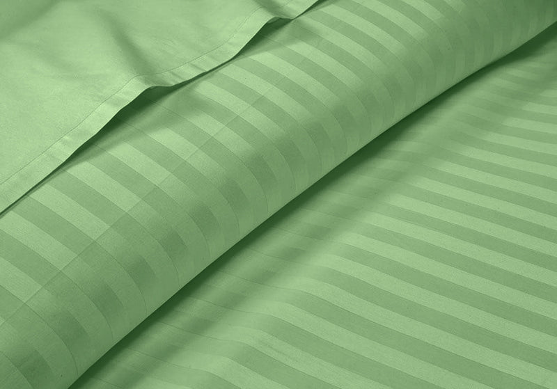 Luxurious Soft Moss Striped RV Sheet Set