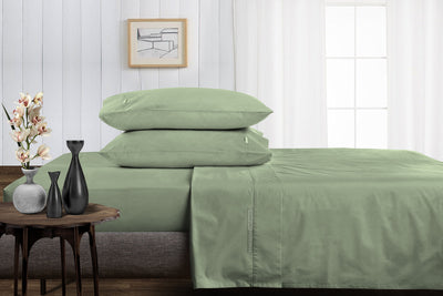 100% Egyptian Cotton Moss Split Sheet Set