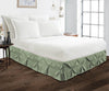 Egyptian cotton made Moss pinch pleated bed skirt