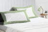 Soft Luxurious moss - white two tone pillow cases