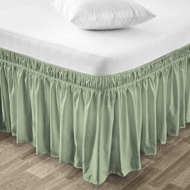Elegant Moss Wrap Around Bed Skirt