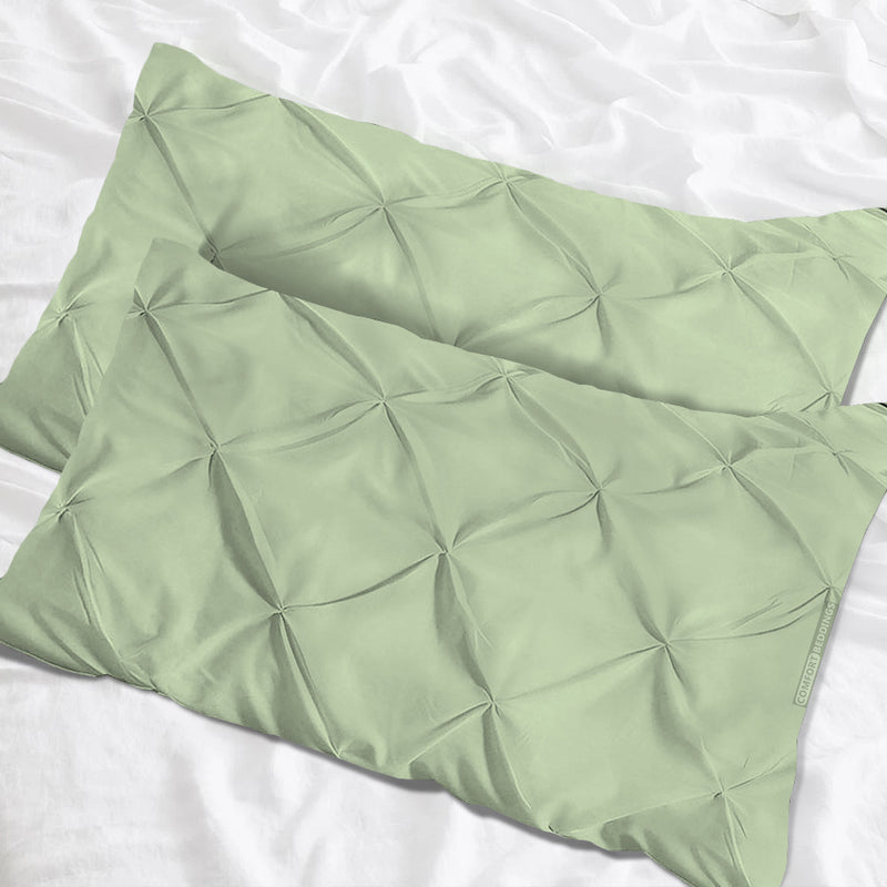 Egyptian Cotton Moss pinch pillow cases