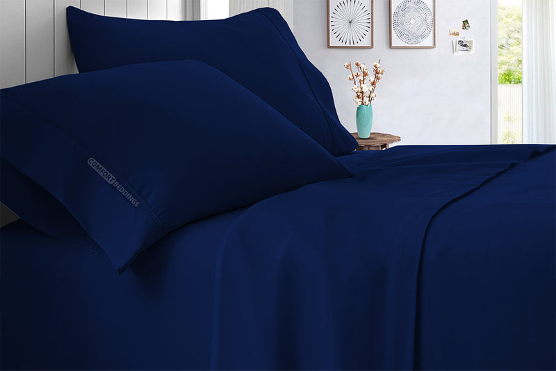 100% Egyptian Cotton Navy Blue Sheet Set