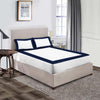 Soft Luxurious Navy Blue - White two tone fitted sheets