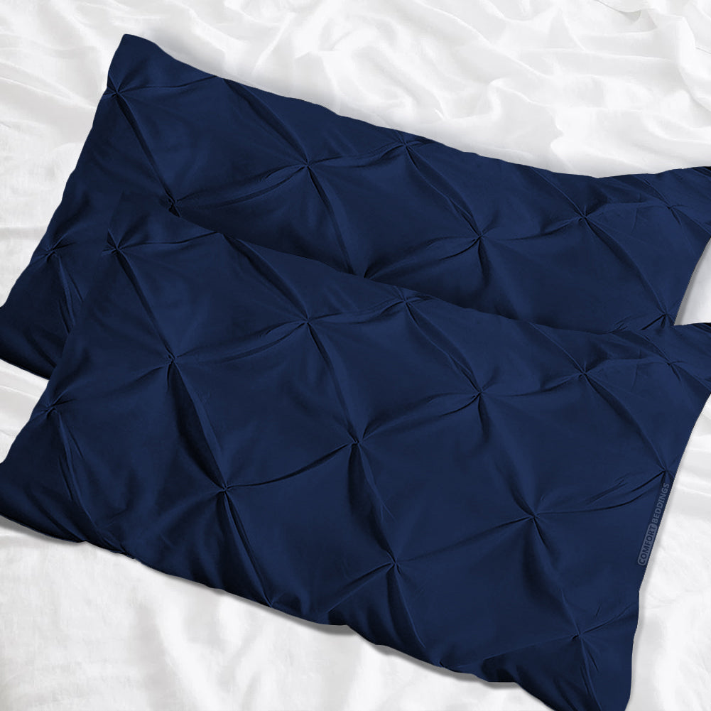 Top selling navy blue pinch pillow cases