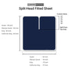 1000TC Navy Blue Split Head Sheet Set