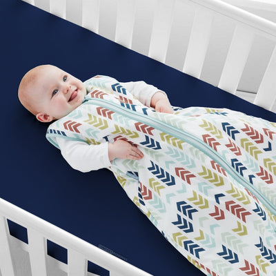 Luxurious Navy Blue Fitted Crib Sheets