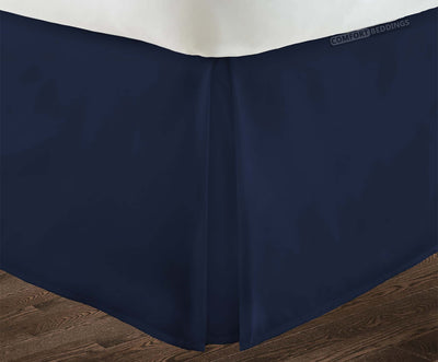 Top Quality navy blue pleated bed skirt