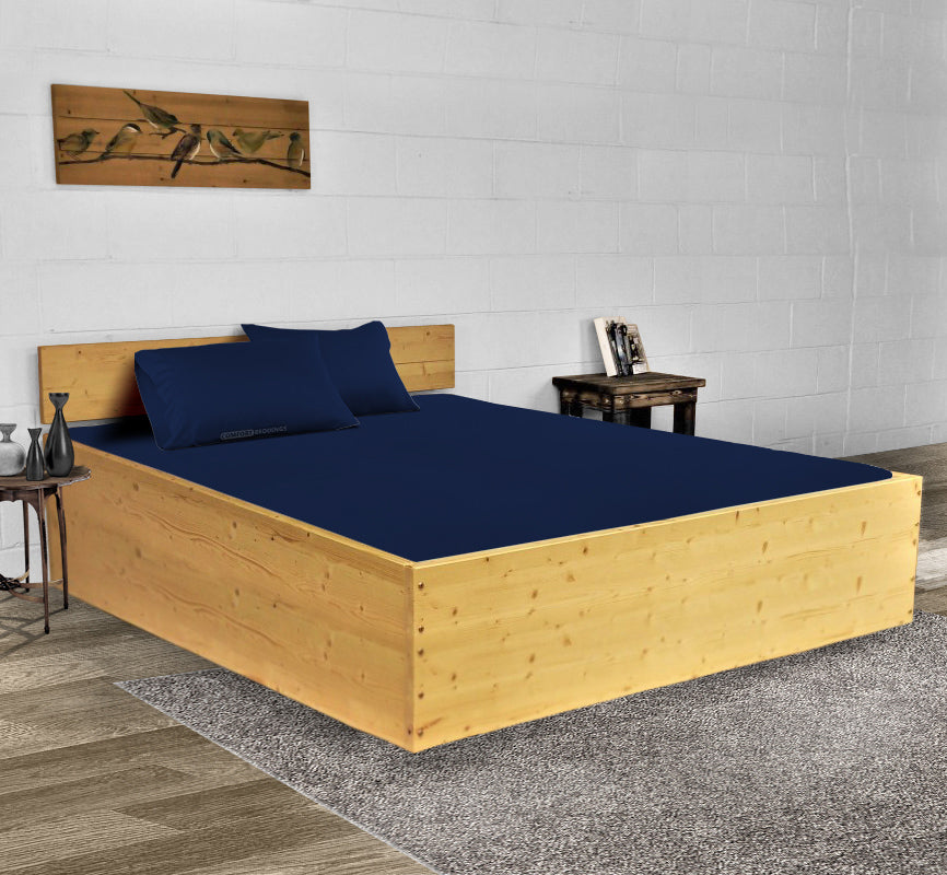Classy Navy Blue Waterbed Sheets