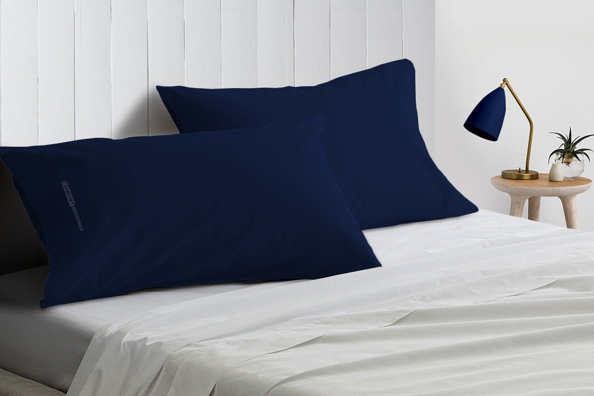 1000 TC Royal navy blue pillow cases