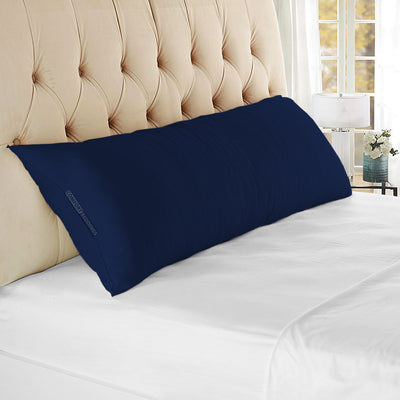 Egyptian Cotton Navy Blue Body Pillow cover