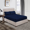 Soft Luxurious Navy Blue Fitted Sheets