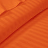 600TC Orange Striped Duvet Cover Set