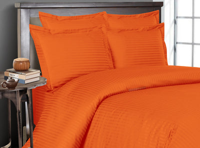 Luxury Orange Striped Bedding In a Bag